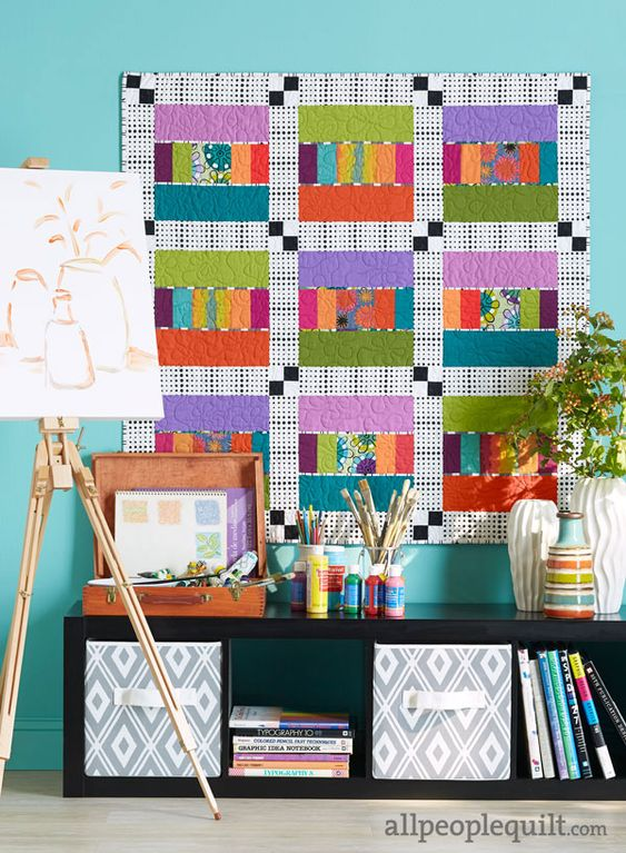 """My """"Swizzle Sticks"""" quilt in the Feb. 2016 issue of American Patchwork & Quilting. www.christinebarnes.com"""