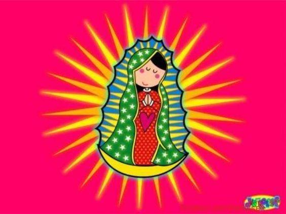 La versión caricaturizada y muy colorida de la Virgen de Guadalupe fue la imagen que catapultó a la fama a Distroller.  Foto: Cortesía