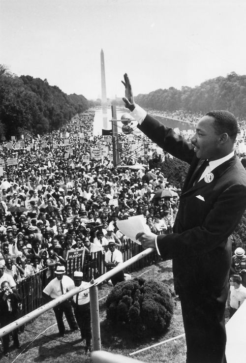 Martin Luther King Jr. , Republican, delivers his 'I have a dream' speech on August 28, 1963.