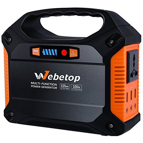 Webetop 155wh 42000mah Portable Generator Inverter Batter Https Www Amazon Com Dp B073j61t3y Ref Cm Sw R Ups Power Portable Generator Portable Solar Power