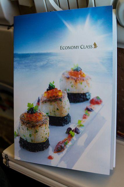 Singapore Airline Menu Economy Class