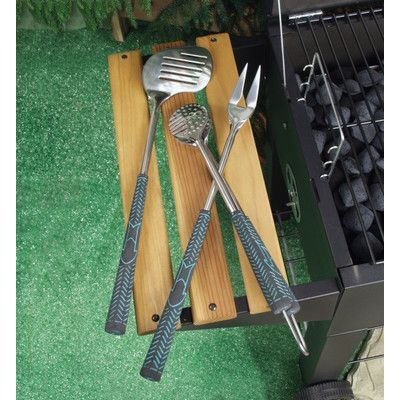Charcoal Companion 3 Piece Golf Club BBQ Grilling Tool Set