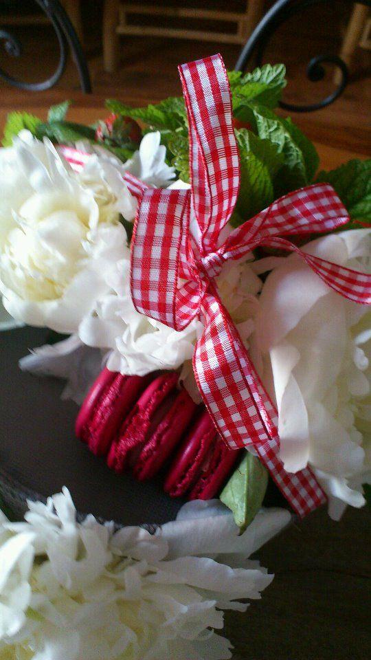 composition du bouquet macaron
