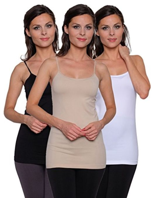 I wear camis so often, a huge style staple. 3-pack-free-to-live-womens-seamless-basic-camis