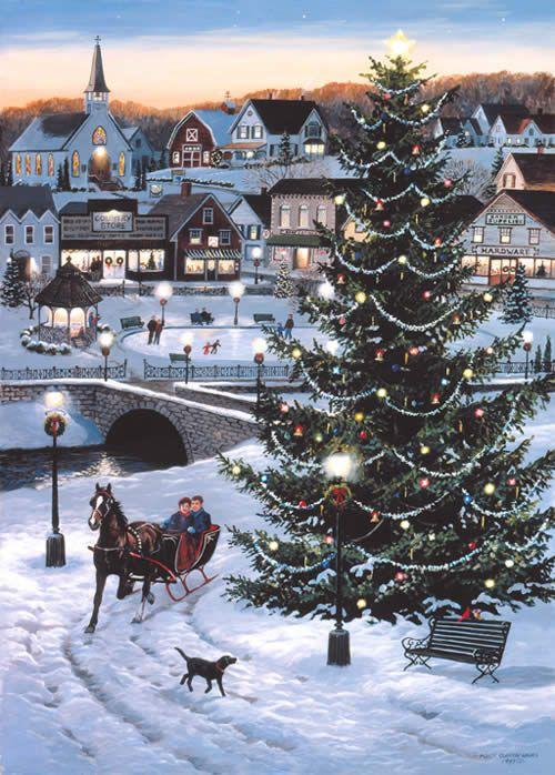Christmas village christmas villages pinterest belle for Outside christmas scenes