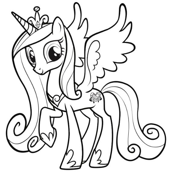 Princess Cadence Horse Coloring Pages My Little Pony Coloring Pony Drawing