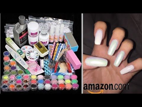 Amazon Acrylic Nail Kit Demo Doing My Own Nails At Home Youtube In 2020 Nail Kit Acrylic Nail Kit Nails At Home
