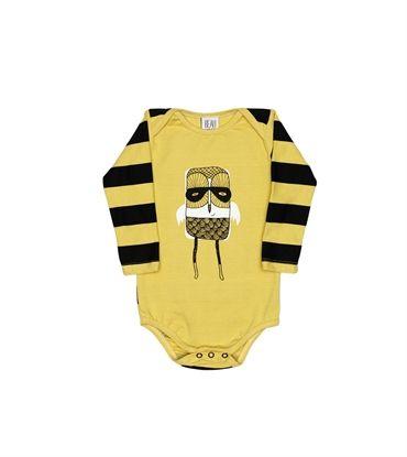 BEAU LOVES - Vintage Yellow Bird Bodysuit Tee