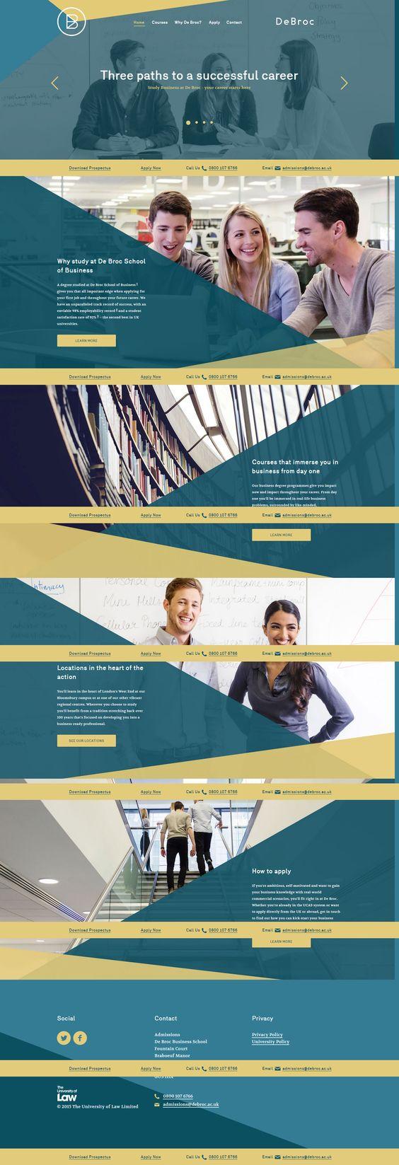 サイト名:De Broc Business School 投稿者名:まっつん サイトに活かせそうなところ:ヘッダーとメインビジュアルが一体になってる 半透明の使い方 大きい写真の使い方 色使い