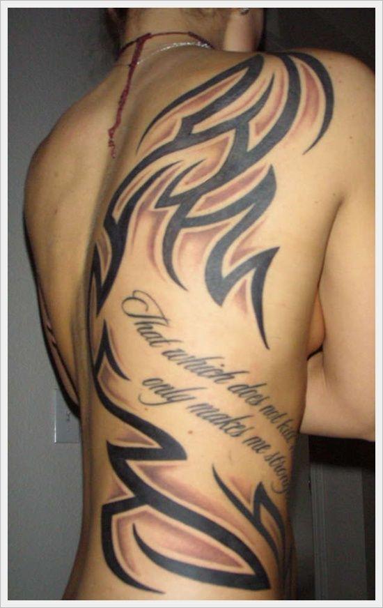 Pinterest the world s catalog of ideas for Tribal back tattoos