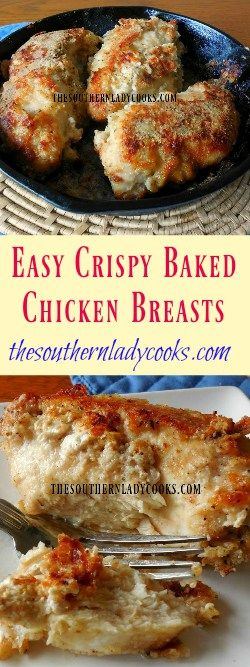 Crispy baked chicken, Baked chicken breast and Southern ladies on ...