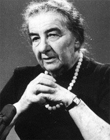 Golda Meir was an Israeli teacher, kibbutznik and politician who became the fourth Prime Minister of Israel. Meir was elected Prime Minister of Israel on March 17, 1969, after serving as Minister of Labour and Foreign Minister.