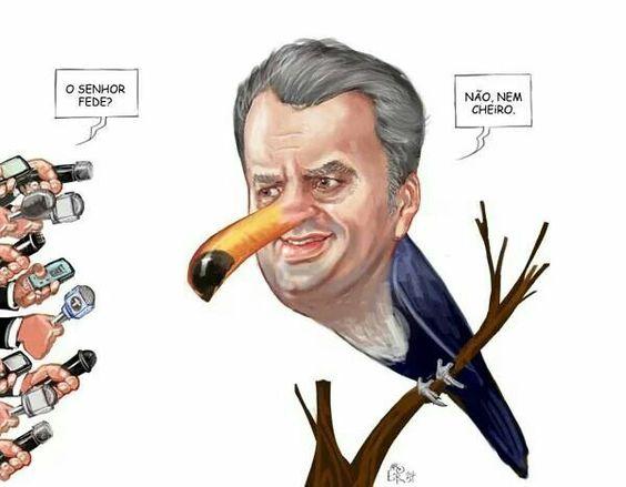 """Charge de Aroeira, no jornal """"Brasil Econômico"""", em 7 de junho de 2014."""