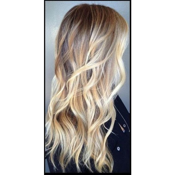 Ash Blonde Ombre Weft Hair Extensions Luxury Quality Russian 100%... ❤ liked on Polyvore featuring beauty products, haircare and hair