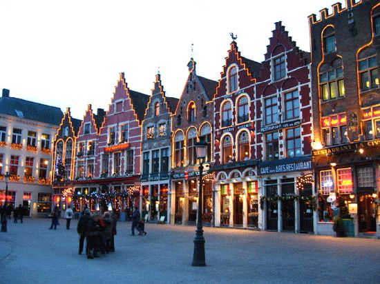 """Brugge, Belgium. They call it the """"Venice of the North"""". I left a little piece…"""
