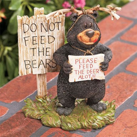 Comical Funny Bear Garden Statue