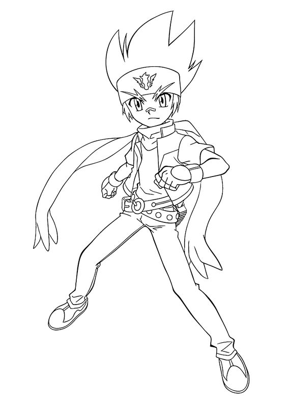 Gingka beyblade anime coloring pages for kids printable for Beyblade shogun steel coloring pages