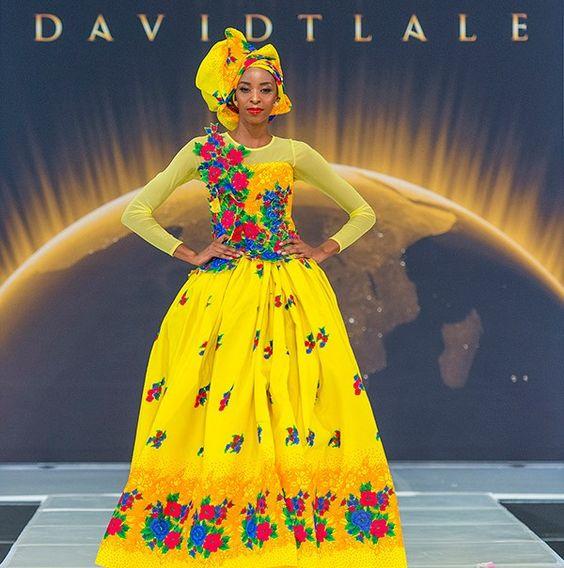 Modern tsonga wedding dresses : David tlale never goes wrong morden tsonga shangaan sa