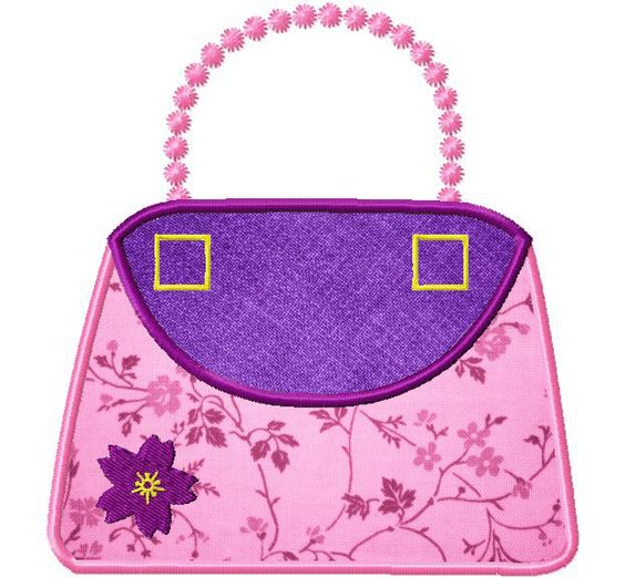 Purse Applique 6 Inch