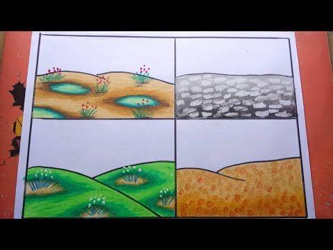 Cara Mudah Mewarnai Tanah Dengan Gradasi Crayon Oilpastel