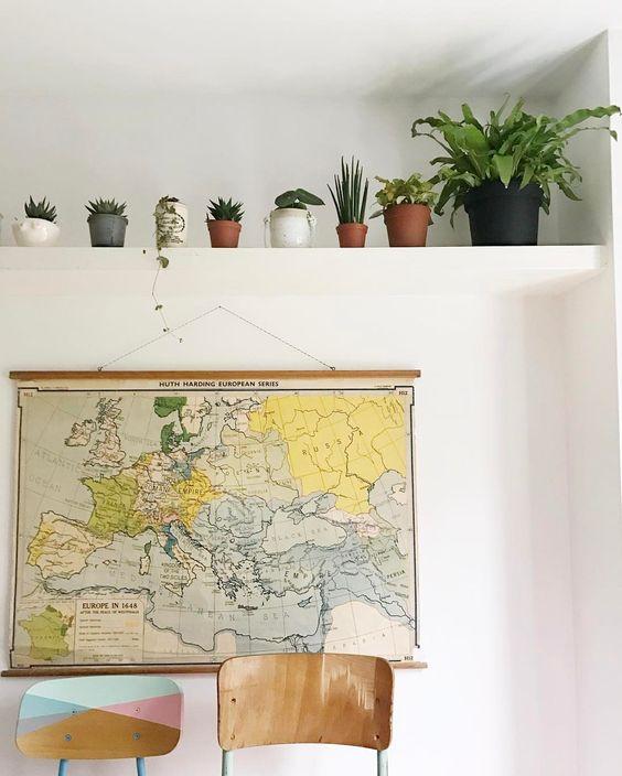 Plant shelf in the kitchen...