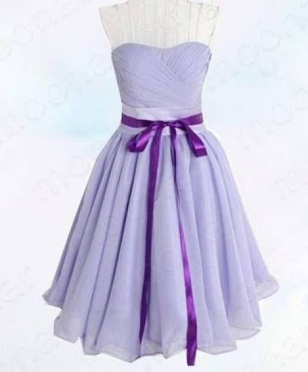 vestido lilás com laço