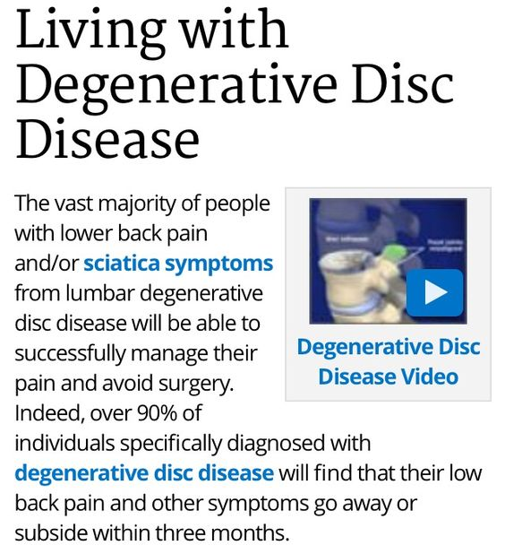 Living With Degenerative Disc Disease Degenerative Disc