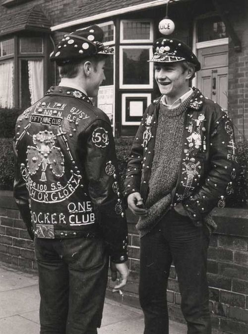 Bikers of the 59 Club, East London  ca 1965. S)