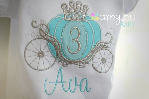 Cinderella Carriage Princess Birthday Toddler Tee Shirt - ANY AGE - Aqua, turquoise, silver by amyloubaby on Etsy https://www.etsy.com/listing/182786188/cinderella-carriage-princess-birthday