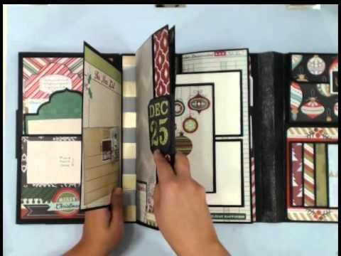 Shabby chic mini album swap with Crafty Malika - YouTube