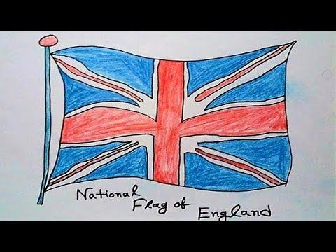 How To Draw A British Flag By Pencil National Flag Of England Flag F Flag Drawing England Flag Flag Art