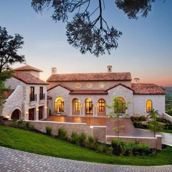 Spanish Hacienda Style Homes: Beautiful, Style And Mansions On Pinterest