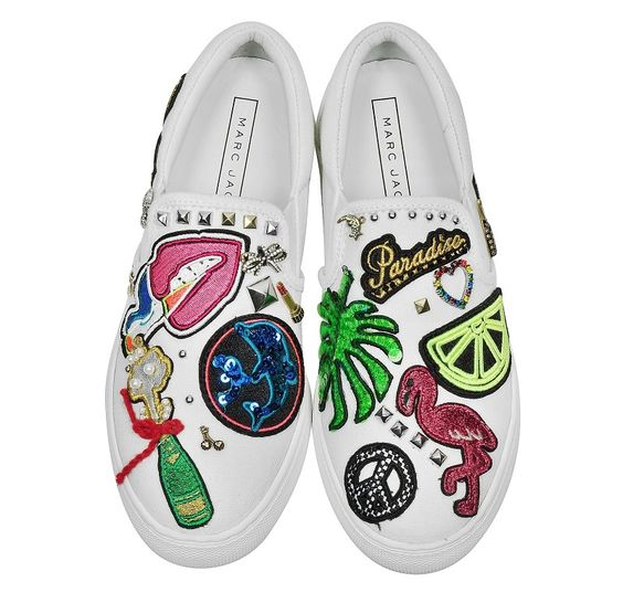 Baskets Basses Mercer Multi Patches Blanc Marc Jacobs
