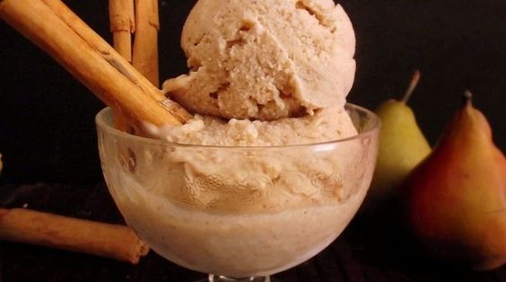 Spiced Pear Ice Cream (no machine required!)