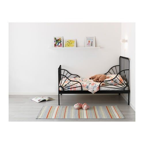 Ikea Us Furniture And Home Furnishings Black Toddler Bed Kids Bedroom Inspiration Ikea Minnen Bed