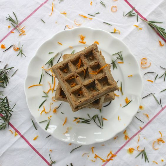 Rosemary & Orange Belgian Waffles- AMAZING!!  So the directions call for the addition of zest in excess of what is in the ingredients list). I used all 2Tbs in the milk and added 1+1/2 tsp to the batter w the other 1/2 of the rosemary... It was delish!!