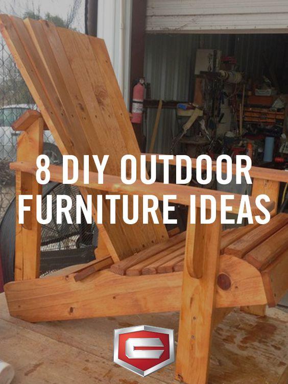8 DIY Outdoor Furniture Ideas   Ideas de muebles, Muebles y Cubiertas