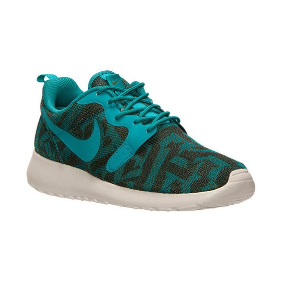 Women's Nike Roshe One Jacquard Casual Shoes ($90) ❤ liked on Polyvore featuring shoes, athletic shoes, low shoes, nike, wide athletic shoes, nike footwear and nike shoes