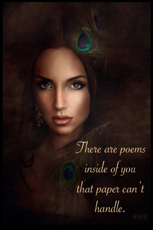 There are poems ...