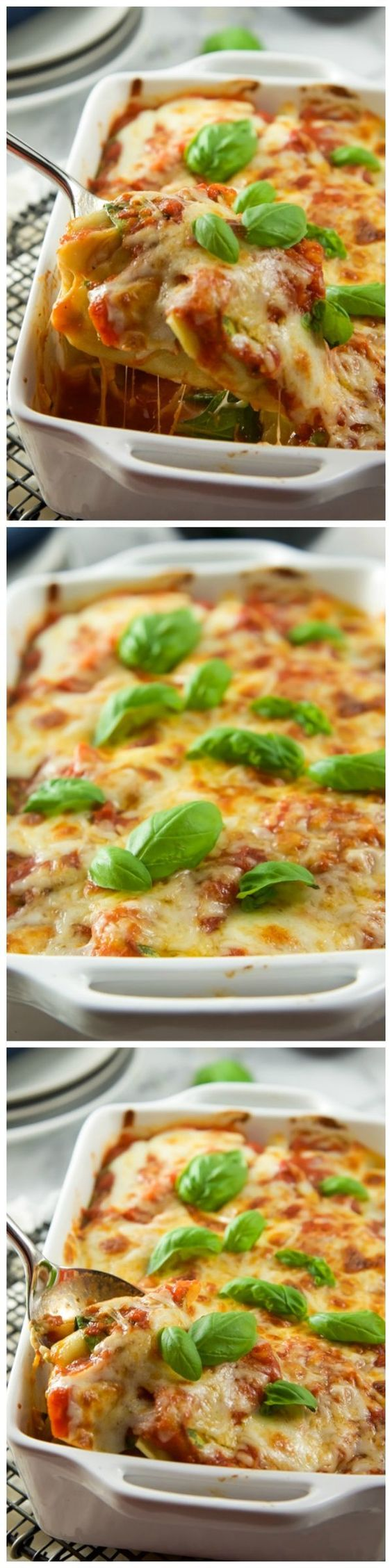 5 ingredient baked spinach and mozzarella ravioli for Quick and delicious dinner recipes