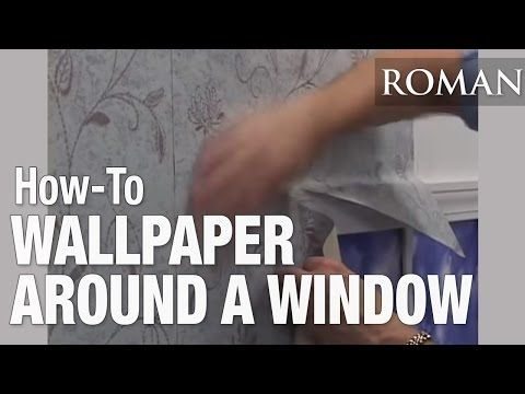 How To Wallpaper Around A Window In 7 Simple Steps Uk Guide How To Hang Wallpaper How To Apply Wallpaper Wallpaper