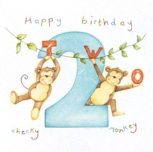 2nd Birthday Card Boy Happy Birthday Cheeky Monkey Cheeky Monkey S Birthday Card Monkey Birthday Card Son Nephew Grandson Birthday Wishes For Kids Birthday Cartoon Birthday Cards For Boys
