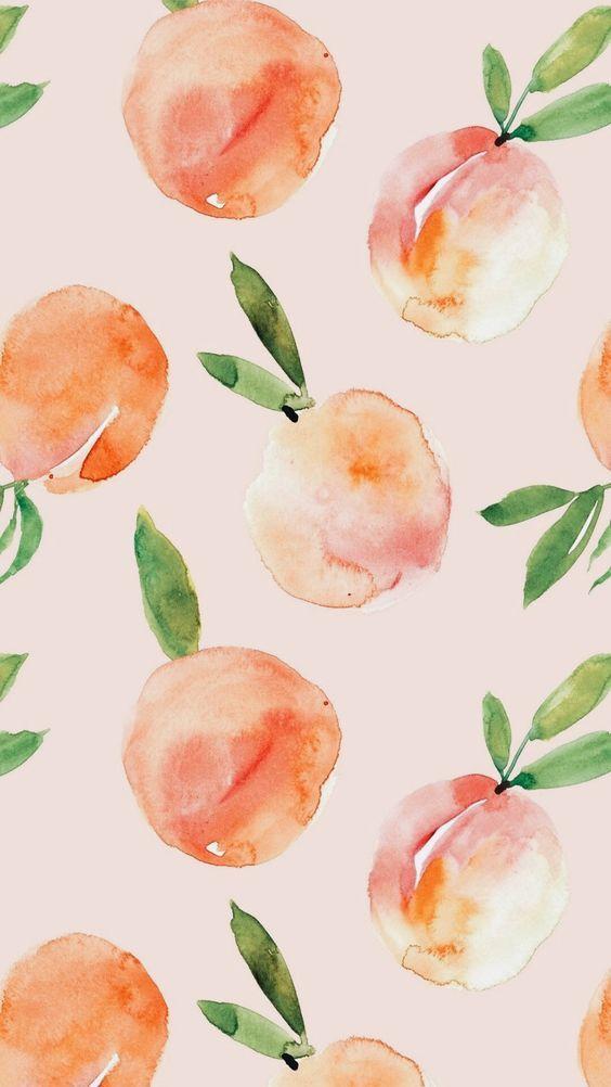 We Heart It Faves On We Heart It Wallpaper Iphone Summer Peach Wallpaper Watercolor Wallpaper