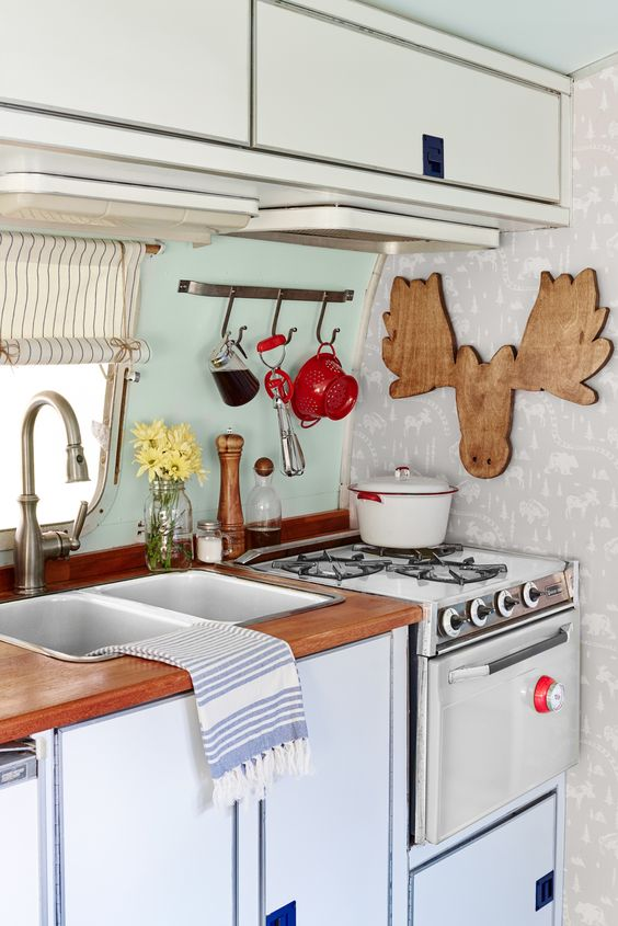 Travel trailer decor trailer decor and airstream on pinterest Travel trailer decorating ideas