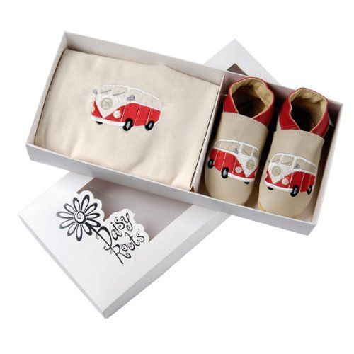 Daisy Roots Gift Set - Camper Van Shoes  Matching T-Shirt (6-12 mths)  Price : £29.99 http://www.iwantthatpresent.co.uk/Daisy-Roots-Gift-Set-Matching/dp/B009TYF22E