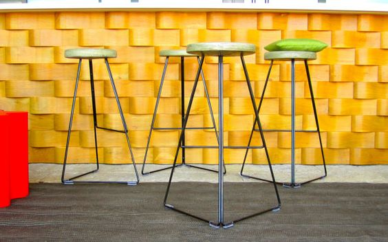 Concrete & Steel Indoor/Outdoor Coleman Stool by GretadeParry, $269.00