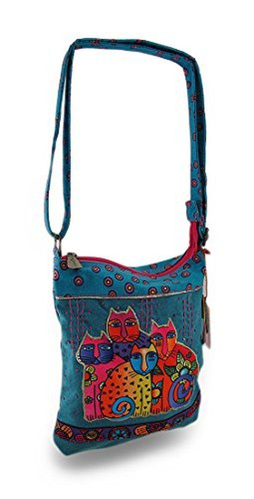 Cross Body Bags Laurel Burch Feline Clan Colorful Bag