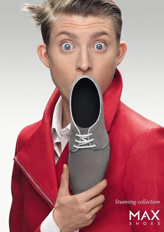 """""""O que realmente decide os consumidores a comprar ou não comprar é o conteúdo da sua publicidade e não a sua forma.""""  David Ogilvy  Campanha criativa para divulgar uma marca de sapatos!"""