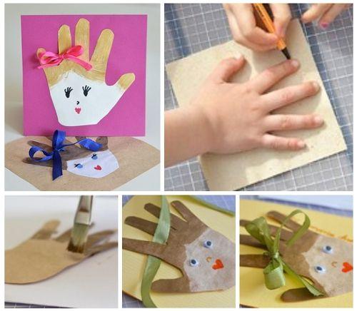 Как сделать открытку к 8 марта  необычный подарок маме