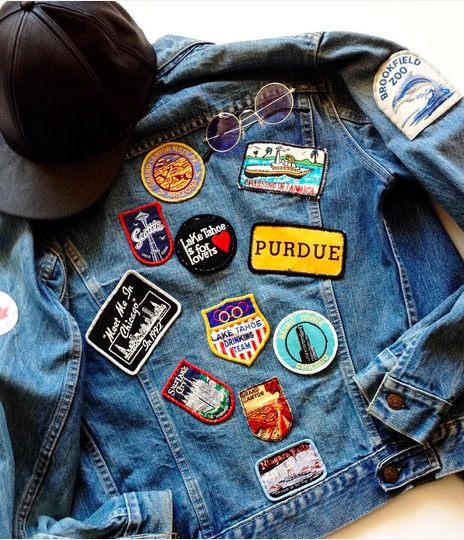 Style blogger Likkie Xiong treasures her Dad's personalized Levi's denim Trucker Jacket, customized with patches from his travels.